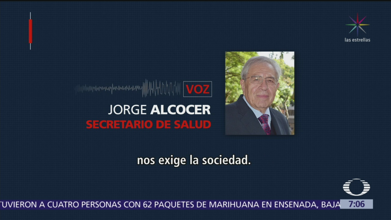 Secretario de Salud, Jorge Alcocer, niega recortes presupuestales