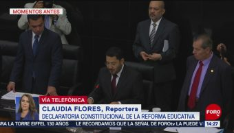 FOTO. Senado declara constitucional la reforma educativa