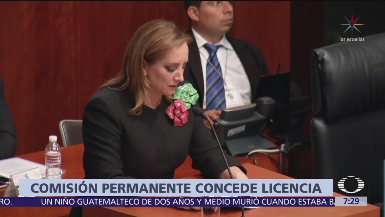 Senadora Claudia Ruiz Massieu pide licencia