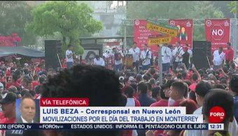 FOTO: Sindicatos y centrales obreras marchan en Monterrey este 1 de mayo, 1 MAYO 2019