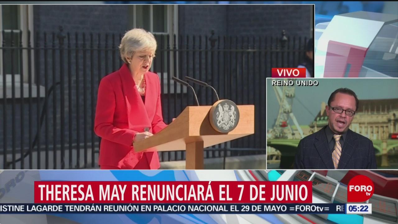 Theresa May anuncia su dimisión el próximo 7 de junio