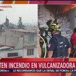 foto: Tres personas lesionadas por incendio en colonia El Chamizal