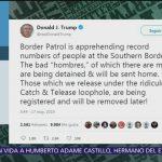 Trump advierte a migrantes no 'ponerse cómodos' en EU