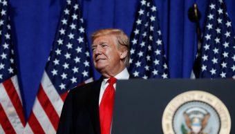 Foto: El Presidente de Estados Unidos, Donald Trump, habla en la Exposición de Reuniones Legislativas y Comercio de la Asociación Nacional de Agentes Inmobiliarios en Washington, mayo 17 de 2019 (Reuters)