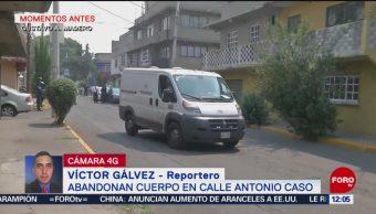 Un detenido, por ayudar a tirar cuerpo en calle de CDMX