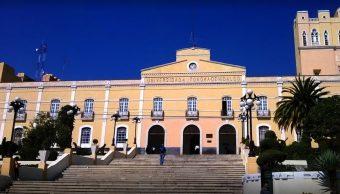 Foto: Fachada del edificio de la Universidad Autónoma del Estado de Hidalgo, 8 mayo 2019