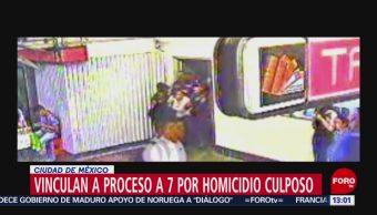 FOTO: Vinculan a proceso a 7 por homicidio de mujer que se desmayó en Metro Tacubaya, 18 MAYO 2019