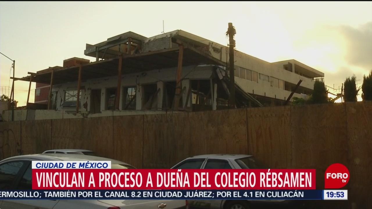 FOTO:Vinculan a proceso a dueña del Colegio Rébsamen, 18 MAYO 2019