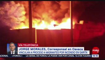 Foto: Migrantes Hondureños Incendiaron Estación Migratoria Oaxaca 20 Mayo 2019