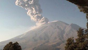 Foto Volcán Popocatépetl registra explosiones con contenido de ceniza 16 mayo 2019