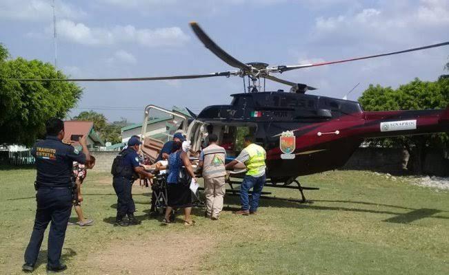 Con traslados aéreos se atienden emergencias en salud
