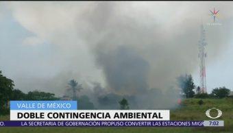 Zona Metropolitana del Valle de México amanece con dos contingencias ambientales