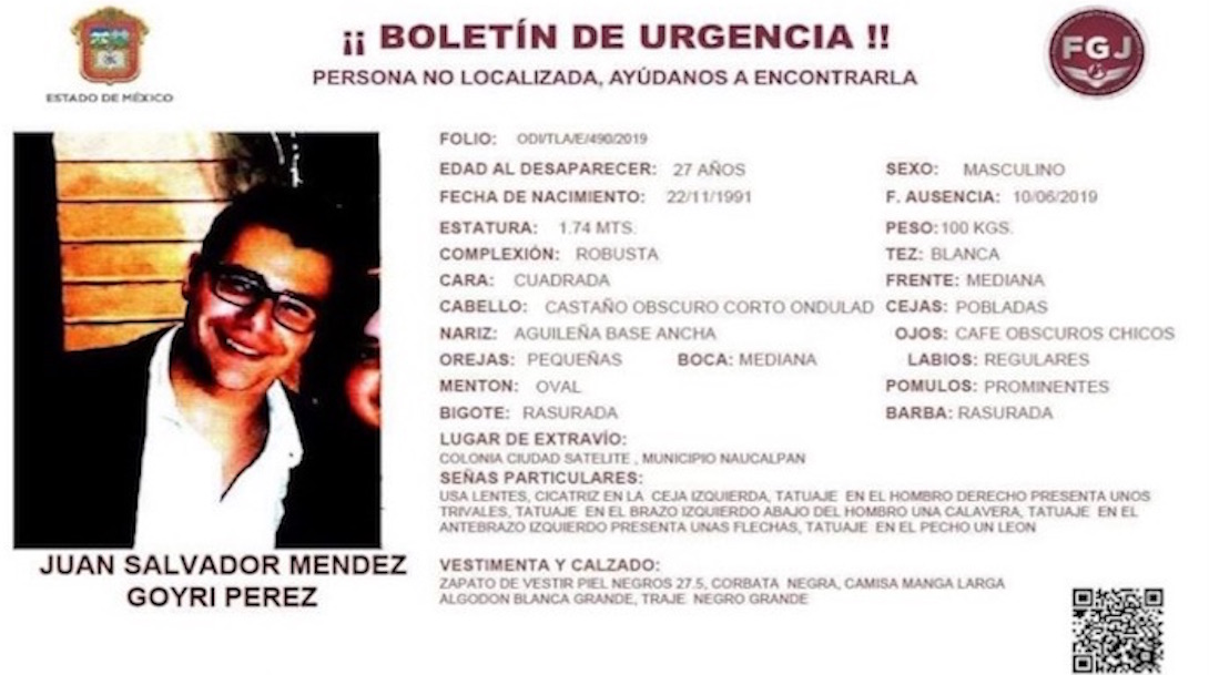 Foto Buscan a joven desaparecido en Ciudad Satélite 13 junio 2019