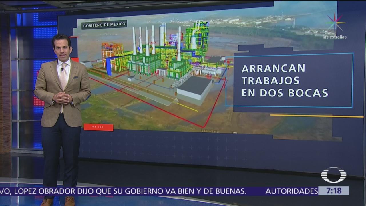 Arrancan trabajos de refinería Dos Bocas, Tabasco