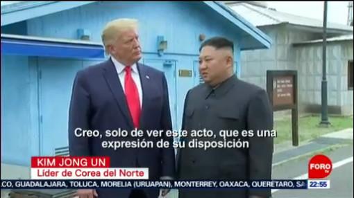 FOTO: Así fue el encuentro entre Trump y Kim Jong Un, 30 Junio 2019