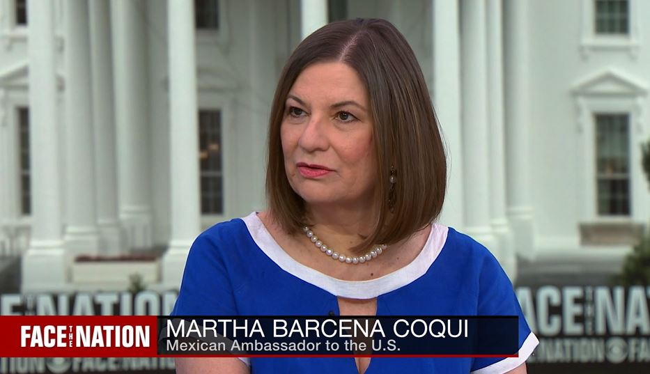 Foto: La embajadora de México en EE.UU., Martha Bárcena, el 9 de junio de 2019 (CBS News)