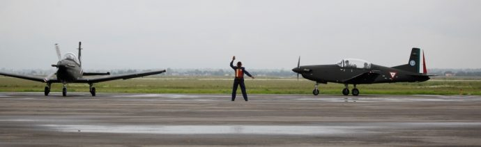 Foto: Base militar aérea en Santa Lucía, 6 de septiembre de 2010, México