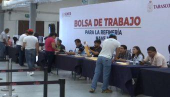 Refinería Dos Bocas: Reciben 20 mil solicitudes de trabajo en dos días; esperan hasta 40 mil