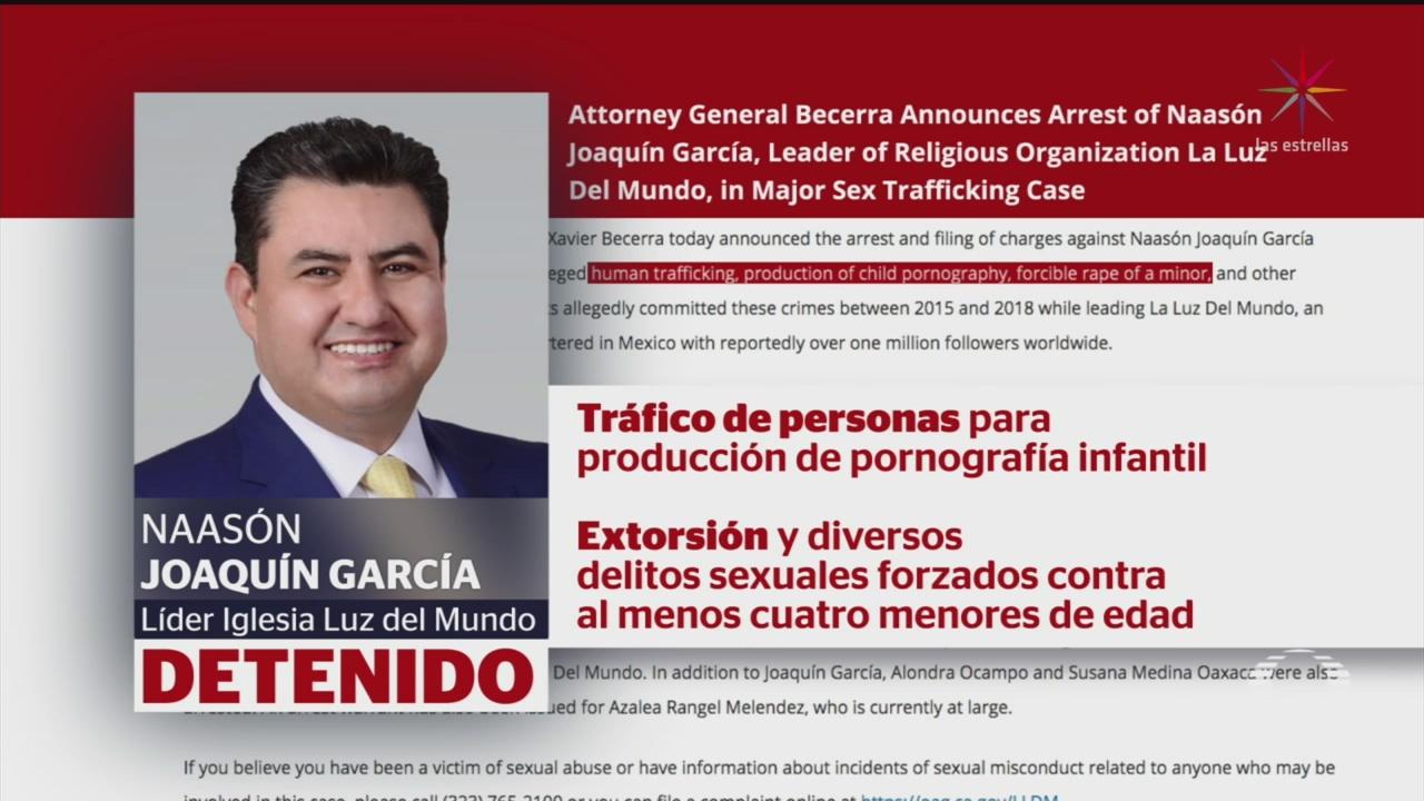 Foto: Detienen Naason Joaquín García Líder Iglesia Luz del Mundo 4 Junio 2019