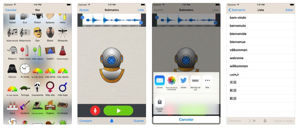 foto cambiar voz para mensajes audio whatssapp ios 18 junio 2019