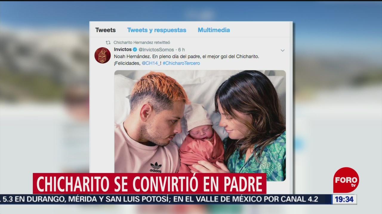 """FOTO: """"Chicharito"""" Hernández se convierte en papá, 16 Junio 2019"""