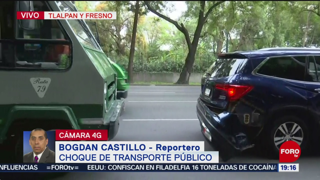 Foto: Choca Microbús Contra Vehículo Calzada Tlalpan 19 Junio 2019