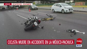 Ciclista muere en accidente en la México-Pachuca