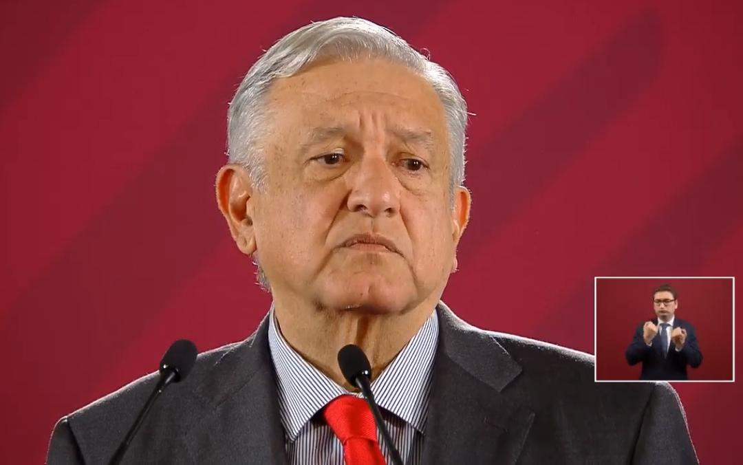 Foto: El presidente de México, Andrés Manuel López Obrador, en su conferencia de prensa matutina, 6 junio 2019