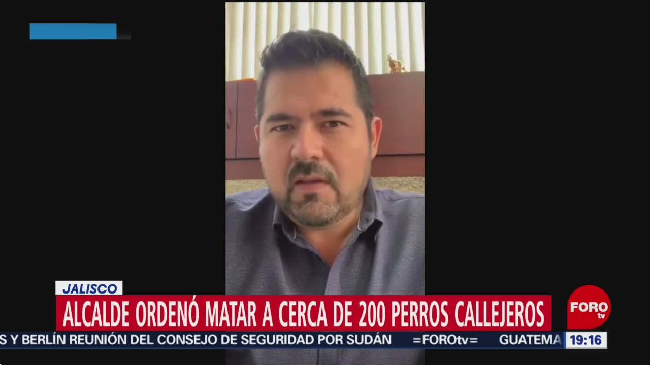Foto: Alcalde Jalisco Mata Perros Callejeros 3 Junio 2019