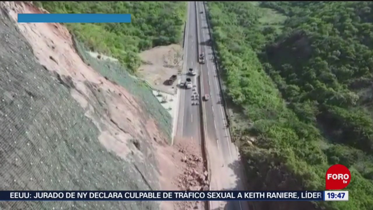 Foto: Derrumbe Autopista Cuernavaca-Acapulco 19 Junio 2019