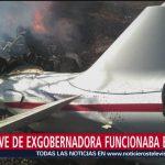 Foto: DGAC descarta fallas en motores del helicóptero de Martha Erika y Moreno Valle
