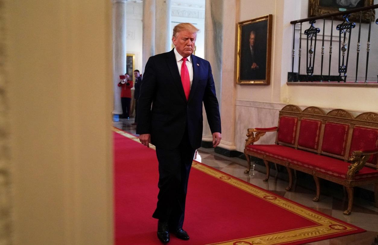 Foto: El presidente de Estados Unidos, Donald Trump, en la Casa Blanca, junio 15 de 2019 (Getty Images)
