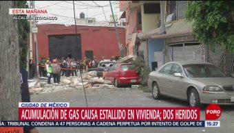Foto: Dos heridos por explosión en una casa en Iztacalco