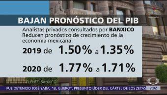 Economistas bajan pronóstico de PIB para México