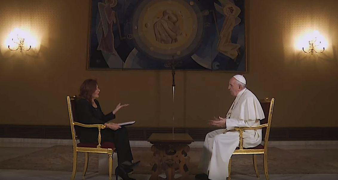 Foto: El papa Francisco habló con Valentina Alazraki de los feminicidios en México, su pontificado, de los casos de abusos en la Iglesia católica, el 1 de junio de 2019 (Noticieros Televisa)