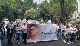 Foto: Manifestación en la Ciudad de México por la desaparición de Norberto Ronquillo, estudiante de la Universidad del Pedregal, el 8 de junio de 2019 (Facebook: Coapa)