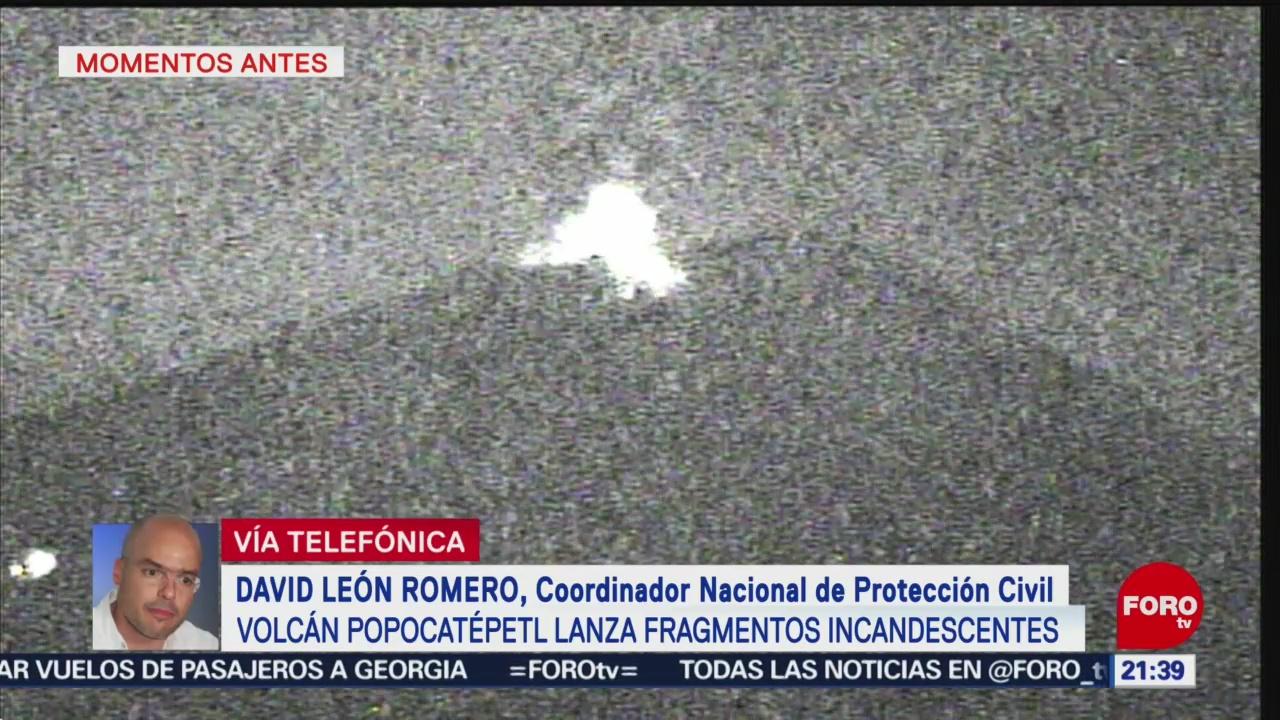 Foto: Explosión Popocatépetl Genera Columna Humo 21 Junio 2019