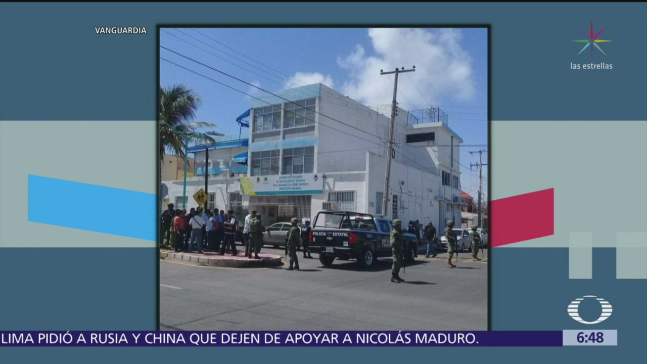 Explota artefacto en preparatoria de Chetumal, Quintana Roo