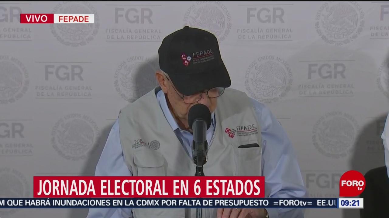 FOTO: Fepade inicia monitoreo de jornada electoral en los seis estados, 2 Junio 2019