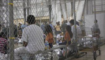 Foto: Migrantes detenidos en las instalaciones de la Patrulla Fronteriza de McAllen, Texas, EEUU. El 17 de junio de 2018
