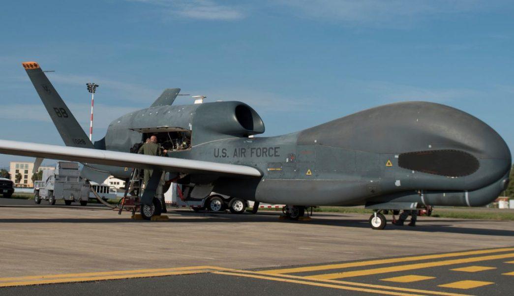 Foto: Dron Global Hawk, fabricado por la compañía estadounidense Northrop Grumman. El 24 de octubre de 2018