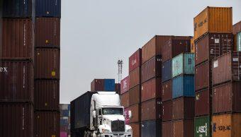 Foto: Los contenedores de exportación con mercancías producidas en México se ven listos para enviarse a los Estados Unidos. El 7 de junio de 2019