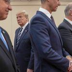 Foto: El presidente Donald Trump asiste a un evento que conmemora el 75 aniversario del Día D, en Portsmouth, Inglaterra. El 5 de junio de 2019