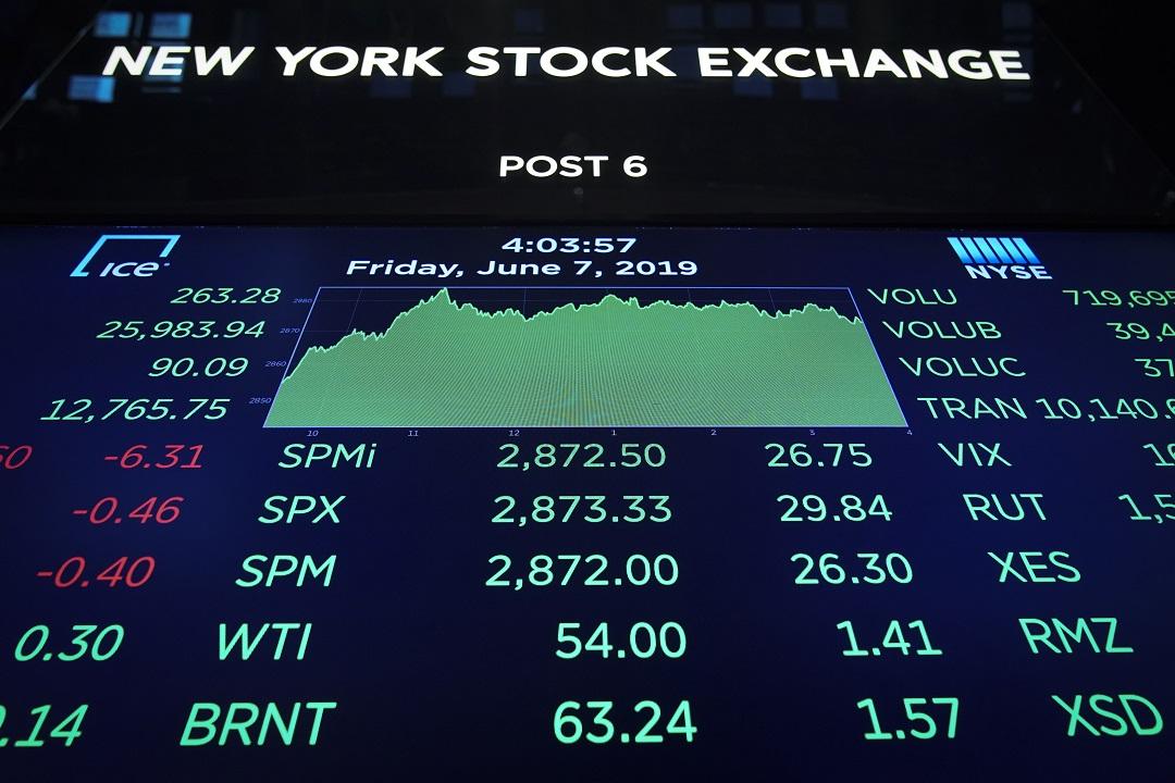 Foto: Sesión en la Bolsa de Nueva York del 7 de junio de 2019