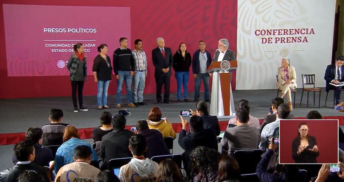 Foto Gobierno de AMLO libera a seis presos políticos de Salazar 5 junio 2019