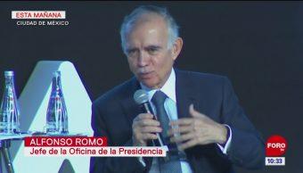 Gobierno Federal atiende los retos económicos, dice Alfonso Romo
