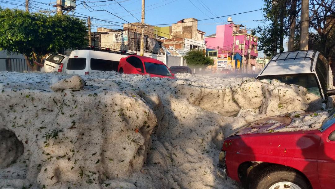 Fotos y videos: Guadalajara queda bajo hielo por la granizada de hoy 30 JUNIO 2019