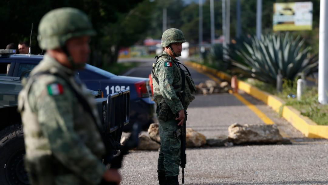 Foto: Miembros de la Guardia Nacional en Comitán, Chiapas, 24 de junio de 2019, México