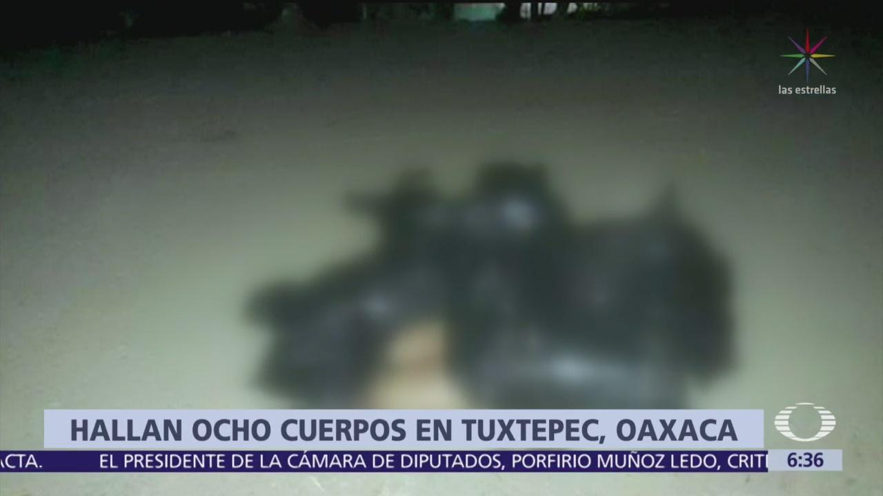 Hallan ocho cuerpos en Tuxtepec, Oaxaca