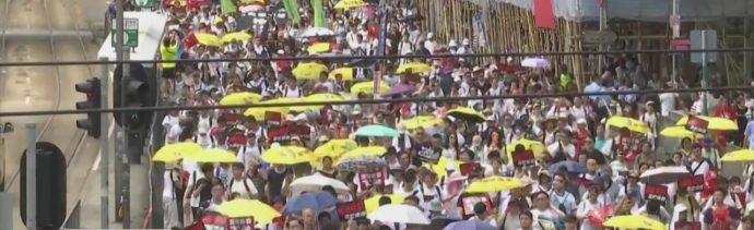 Hong Kong miles protestan contra ley de extradición a China